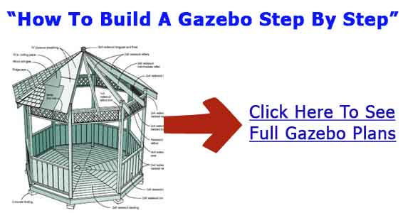 Building gazebo building plans gazebo blueprints for Building a house step by step